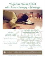 Workshop - Yoga for Stress Relief with Aromatherapy + Massage