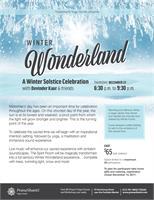 Winter Wonderland - Winter Solstice Celebration