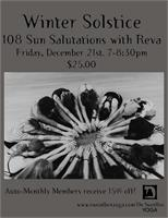 Winter Solstice- 108 Sun Salutations @ The SweatBox Yoga